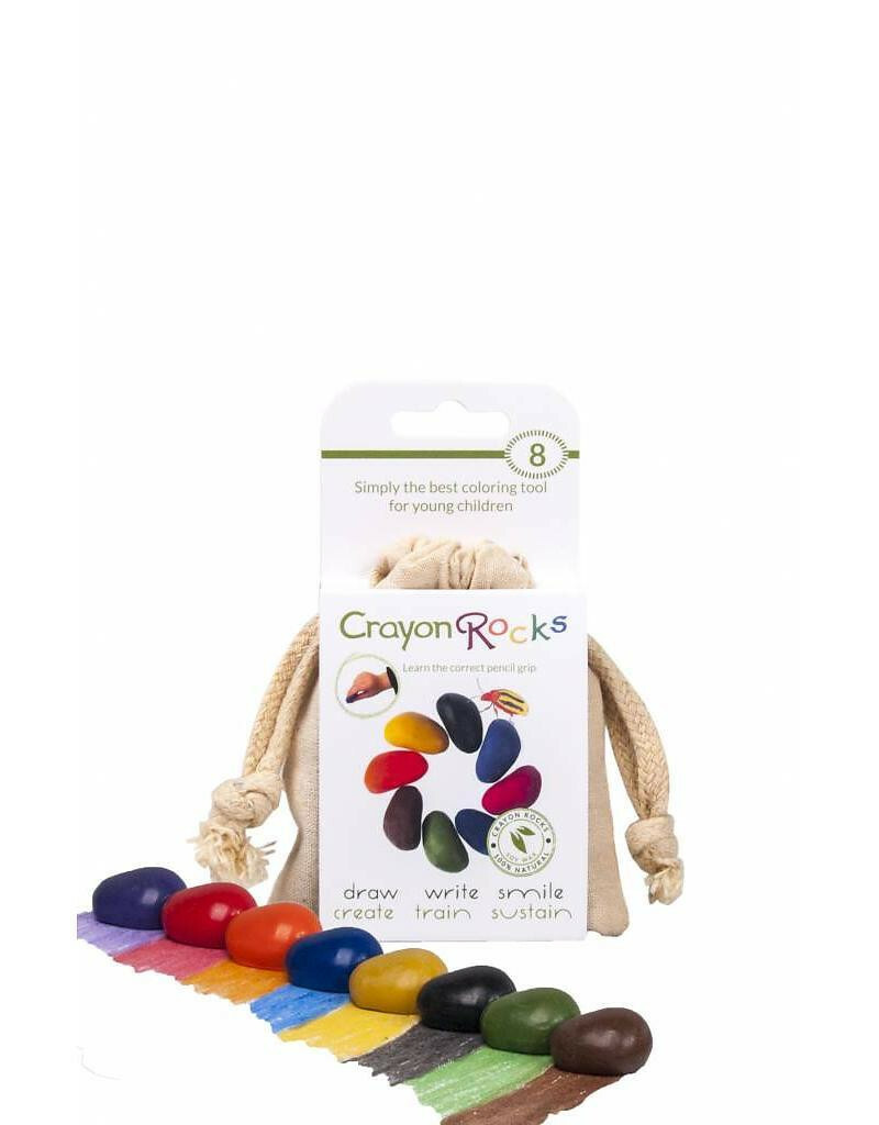 8 Crayon Rocks Cotton Muslin