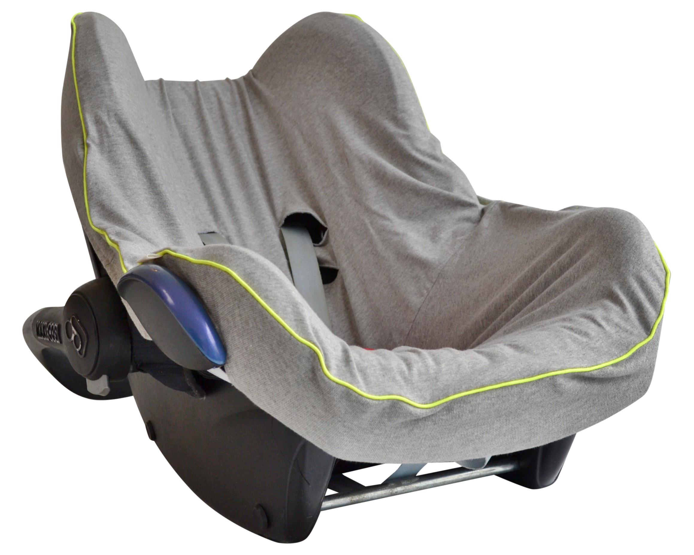 Hoes autostoel Maxi-Cosi - Jersey grey/yel