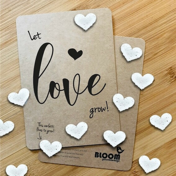 Confetticard Love - Let love Grow