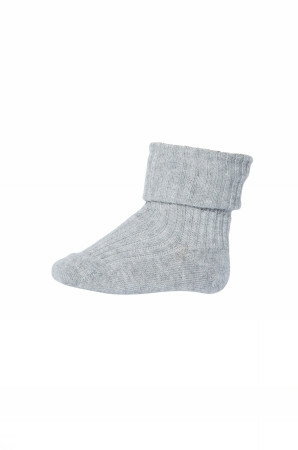 Anklesock 2/2 pad baby - Grey marl.