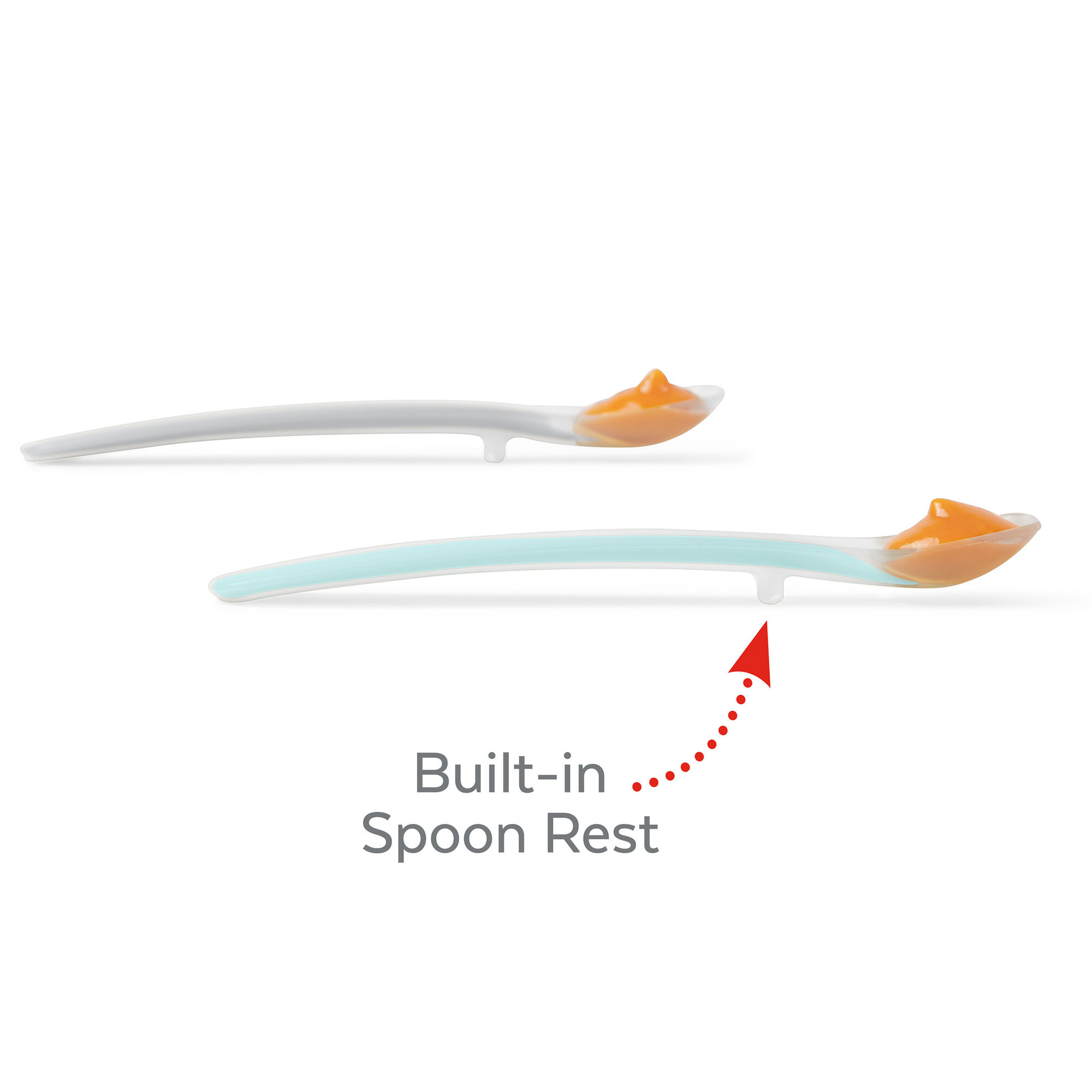 Easy-feed spoons - Grijs/soft teal