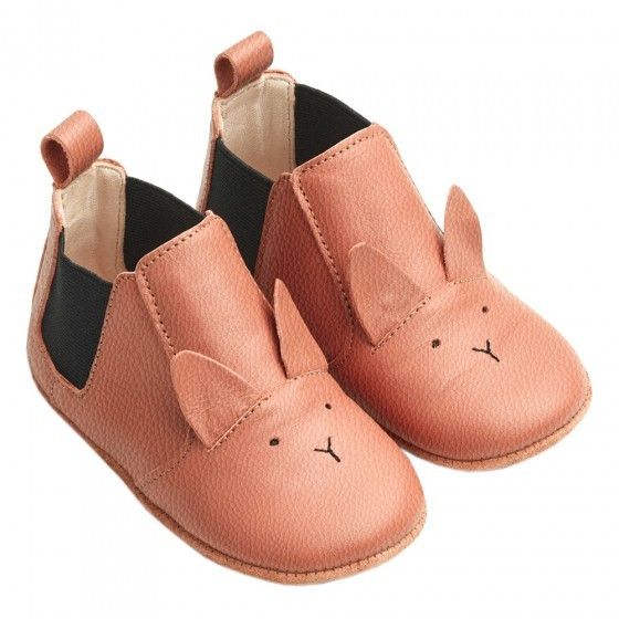 Edith Leather Slippers - Rabbit Tuscany