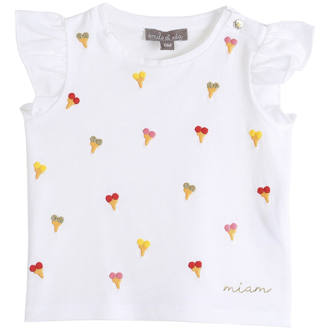 T-Shirt Brode Glaces - Ecru Glaces