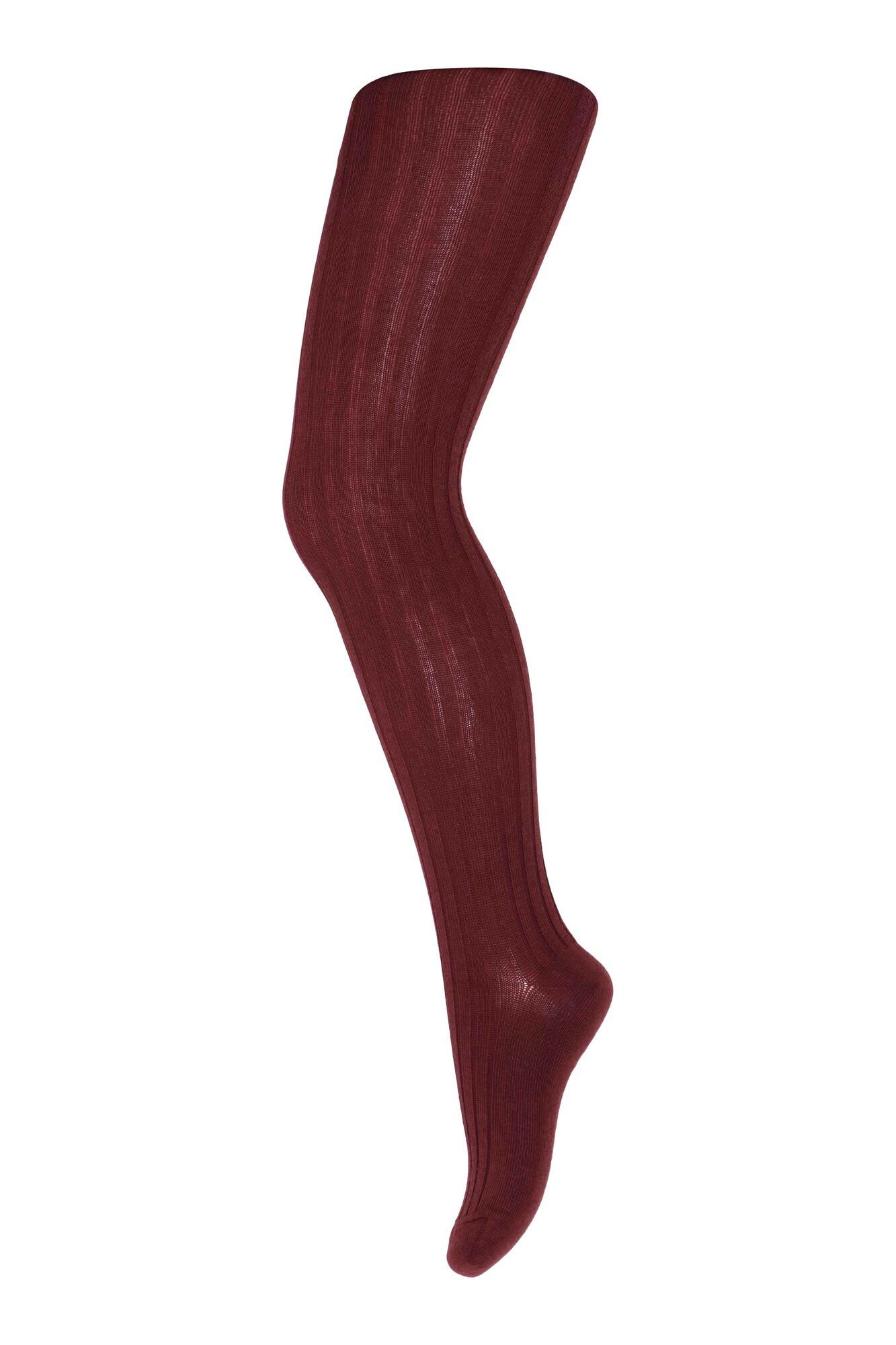 Kousenbroek geribd - Wine Red